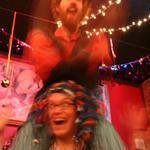Joe and Caroline juggling and playing